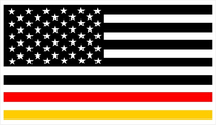 American German Flag Decal / Sticker 01