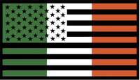 American Irish Flag Decal / Sticker 01