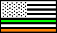 American Irish Flag Decal / Sticker 02