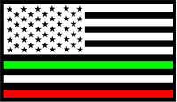 American Italian Flag Decal / Sticker 01