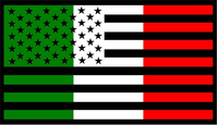 American Italian Flag Decal / Sticker 02