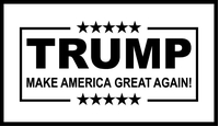 TRUMP Flag Decal / Sticker 04