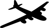 Bomber Airplane Decal / Sticker 03