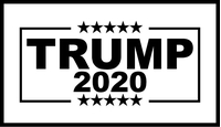 TRUMP 2020 Flag Decal / Sticker 16