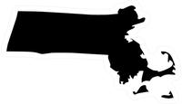 Massachusetts Outline Decal / Sticker 03