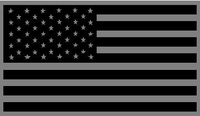 Black and Gray American Flag Decal / Sticker