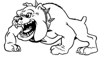 Bulldog Mascot Decal / Sticker 2