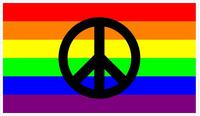 Rainbow LGBT Flag Peace Decal / Sticker 14