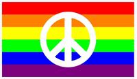 Rainbow LGBT Flag Peace Decal / Sticker 15