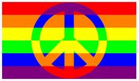 Rainbow LGBT Flag Peace Decal / Sticker 16
