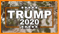 Camo TRUMP 2020 Decal / Sticker 16