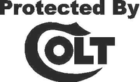 Protected By Colt Decal / Sticker 02