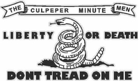 Culpeper Minutemen Don't Tread on Me Decal / Sticker