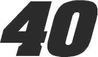 40 Race Number Aardvark Font Decal / Sticker