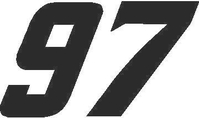 97 Race Number SOLID Nascar Decal / Sticker