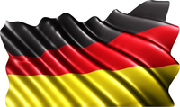 German Flag Decal / Sticker 02