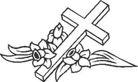 Cross Decal / Sticker 01