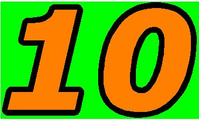 10 Race Number 2 Color Decal / Sticker