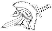 Trojans Mascot Helmet Decal / Sticker