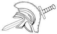 Trojans Mascot Helmet Decal / Sticker