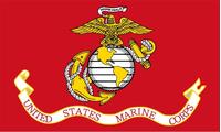 Marines Flag Decal / Sticker 04