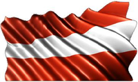 Austrian Flag Waving Decal / Sticker