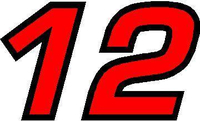 12 Race Number 2 Color Euromode Bold Font Decal / Sticker