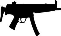 H&K MP5 Decal / Sticker