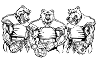 Football Bears Mascot Decal / Sticker