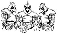 Football Cardinals Mascot Decal / Sticker 7