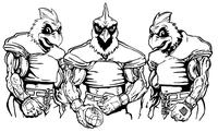 Football Cardinals Mascot Decal / Sticker 7