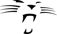 Cougars / Panthers Mascot Decal / Sticker 03