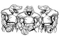 Football Gators Mascot Decal / Sticker 9