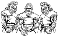 Football Knights Mascot Decal / Sticker 9