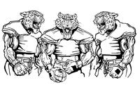 Football Leopards Mascot Decal / Sticker 9