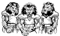 Football Lions Mascot Decal / Sticker 7