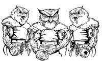 Football Owls Mascot Decal / Sticker 7