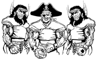 Football Pirates Mascot Decal / Sticker 6