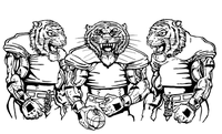 Football Tigers Mascot Decal / Sticker 5