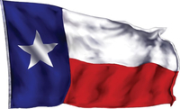 Waving Texas Flag Decal / Sticker 06
