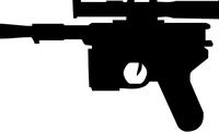 Star Wars Gun Decal / Sticker 02