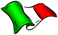 Italian Flag Waving Decal / Sticker 05