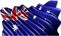 Australian Flag Waving Decal / Sticker