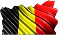 Belgium Flag Waving Decal / Sticker