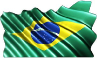 Brazilian Flag Waving Decal / Sticker