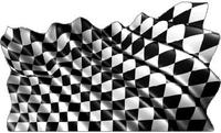 Checkered Flag Waving Decal / Sticker 86