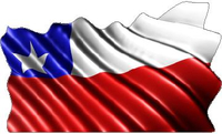 Chile Flag Waving Decal / Sticker