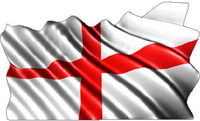 England United Kingdom Flag Waving Decal / Sticker
