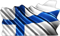 Finland Flag Waving Decal / Sticker