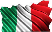 Italian Flag Waving Decal / Sticker
